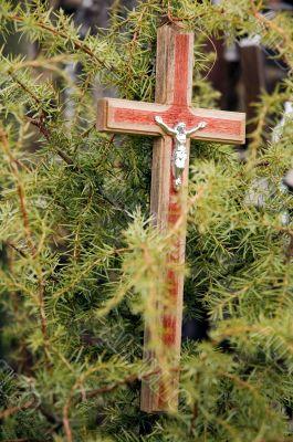 Cross with Jesus figure