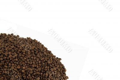 Template with Isolated coffee beans