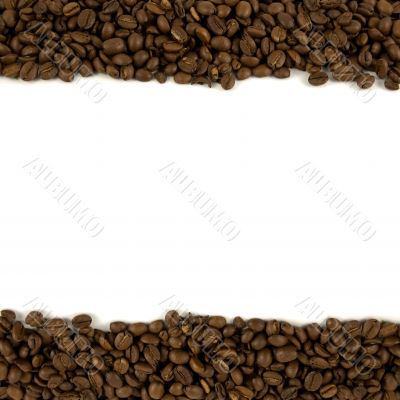 Template with coffee header and footer