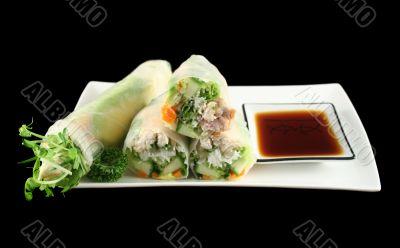 Vietnamese Rice Paper Rolls 1
