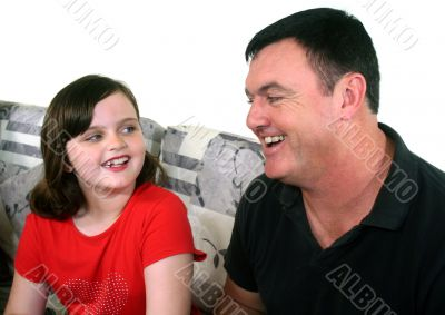Father And Young Daughter 1