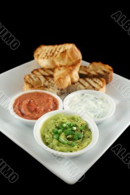 Turkish Bread And Dips 2