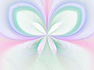 Pastel Wings Illusion Abstract Background