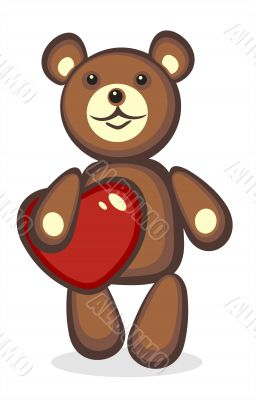 toy bear and heart