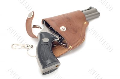 revolver and holster