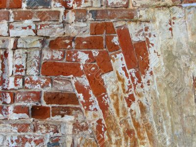 twisted brick wall background