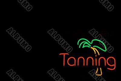 Neon Tanning Sign