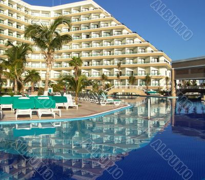 Luxury resort hotel swimming pool