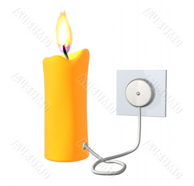 3d candle included in the electric socket