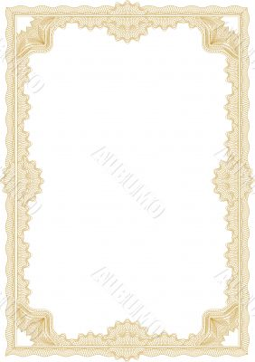 guilloche border for diploma or certificate