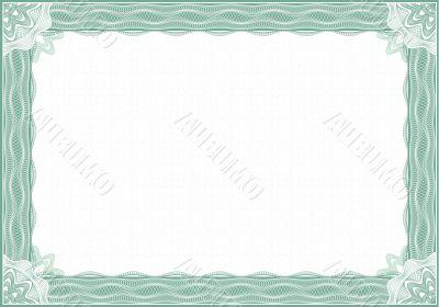 guilloche border for diploma or certificate