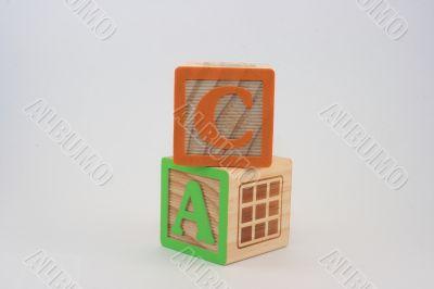 Block Words States Initials - CA FUN
