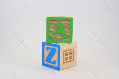Block Words States Initials - AZ FUN
