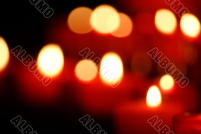 defocused candles