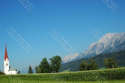 Wooden church - Tyrol scenery