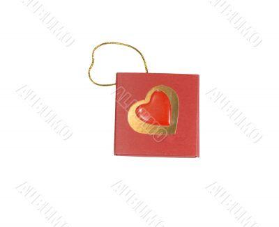 carton valentine isolated