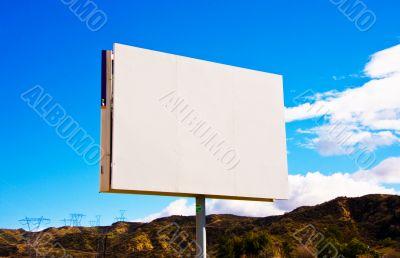 White blank roadside billboard