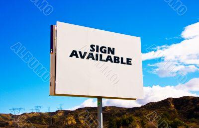 White roadside billboard