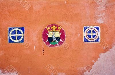 Emblem on the wall