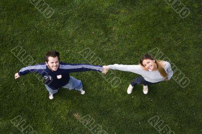 Romantic couple outdoor