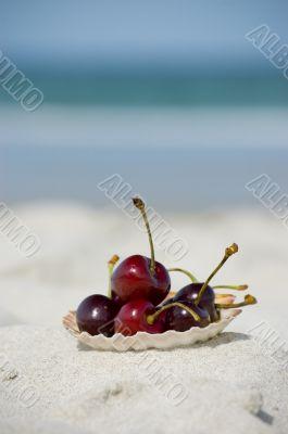 Summer fruits at the beach