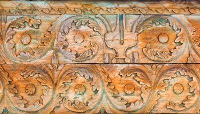 Rustic wooden ornament