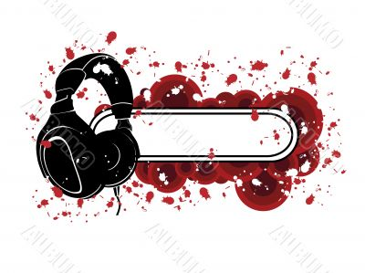 Grunge Headphones Pattern