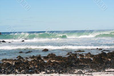 Blue Sky And Coastal Waves