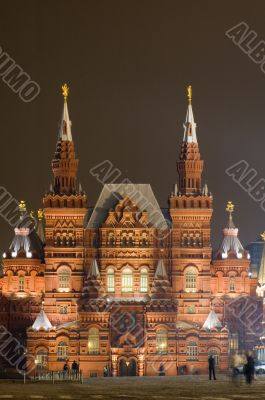 House on the red square
