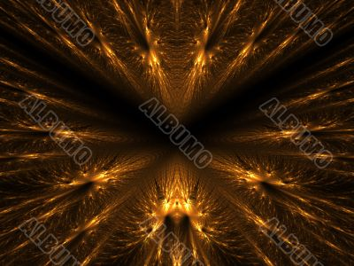 Golden Feather Layers Abstract Background