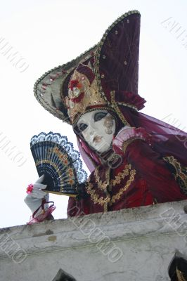 Female venice carnival mask.
