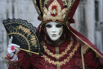 Female venice carnival mask.