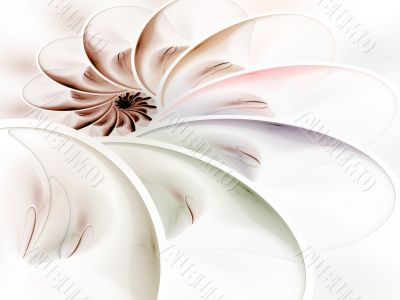 Layered Curves Spiral Abstract Background