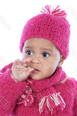 Baby with his finger in the mouth