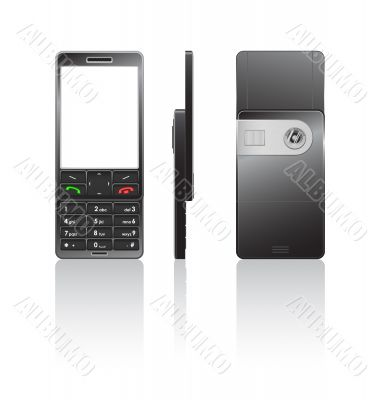 Vector illustration of a black cellphone
