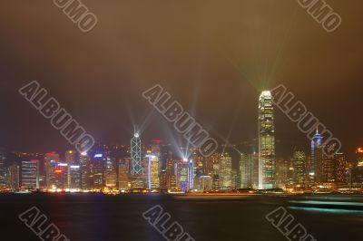 Light show in HK
