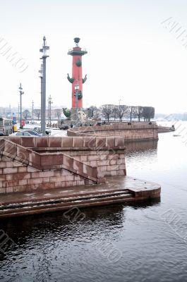 Rostral columns on the embankment