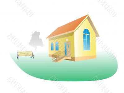 Vector Illustration of small house