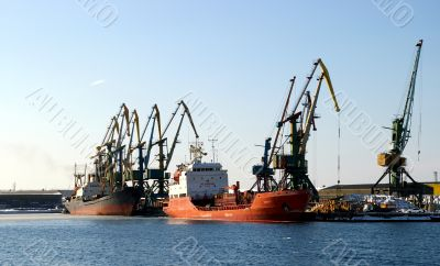Naves in port