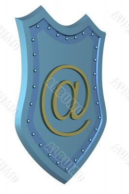 Conceptual image of e-mail. 3D illustrations.