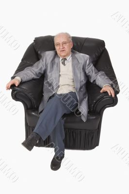 Senior in an armchair