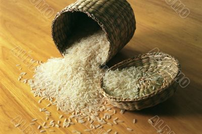 Rice in Small Basket
