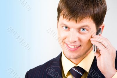 Businessman with cell