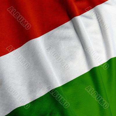 Hungarian Flag Closeup
