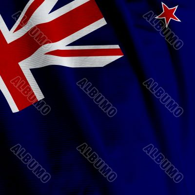 New Zealand Flag Closeup