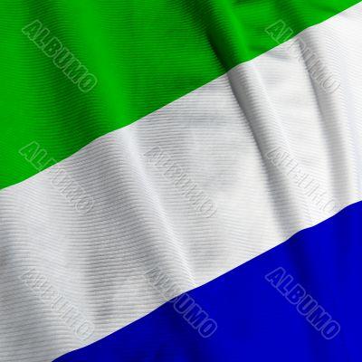 Sierra Leone Flag Closeup
