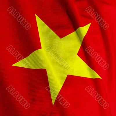 Vietnamese Flag Closeup