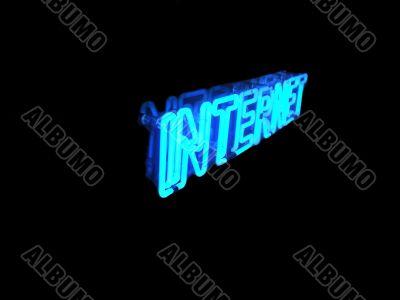 Neon Internet Sign