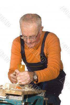 elderly carpenter