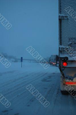 Winter Traffic On the Interstate